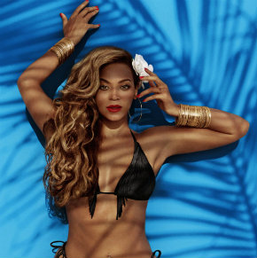 Beyonce wears a fringed bikini from H&M summer 2013