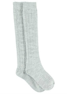 Chunky Cable Knit Knee High Socks