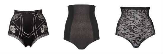 Sexy shapewear high-waisted briefs