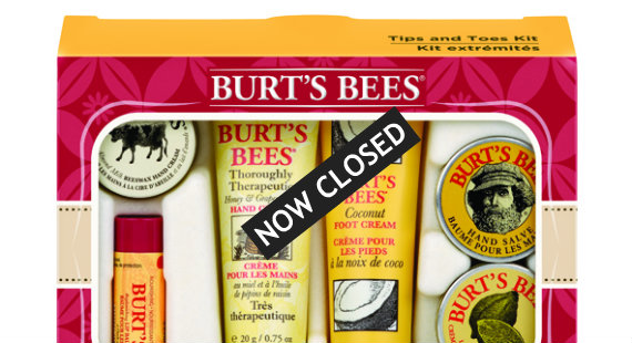 Win a Tips and Toes pamper kit from Burt's Bees