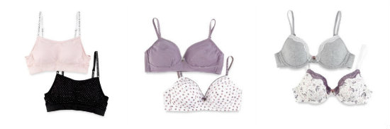 M&S teen bras
