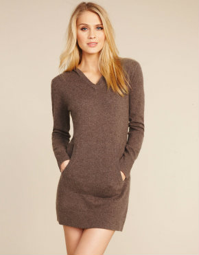 Cashmere Repose Hoody Dress, Figleaves loungewear