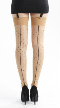 Pamela Mann Jive Seamed Dotty Stockings