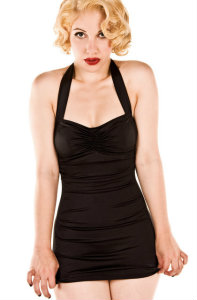 For Luna black retro swimsuit