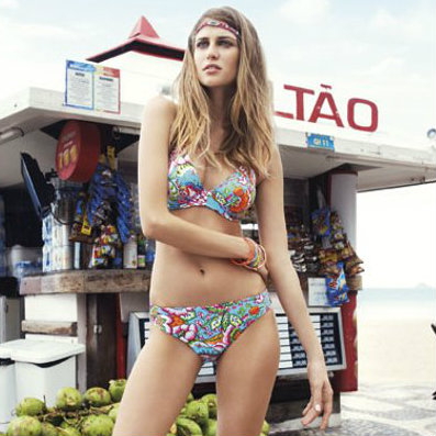 Retro print swimwear for summer SS14