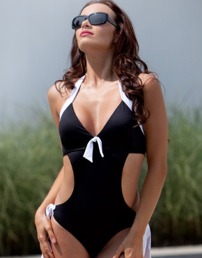 Pour Moi Fiji cut out swimsuit