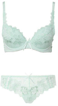 Lepel Fiore bra and brief in pale blue