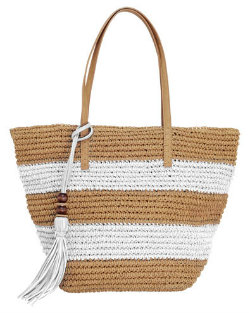 Phase Eight straw beach bag