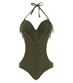 New Look khaki swimsuit