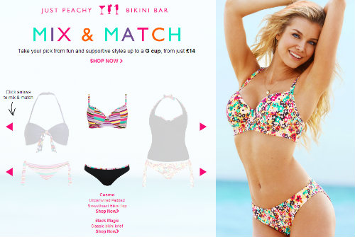 The Just Peachy Bikini Bar on Figleaves.com