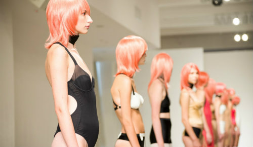 NOE Undergarments presentation at LingerieFW SS14 - Dylan Gilbert