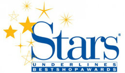 Stars Underlines Best Shop Awards Logo