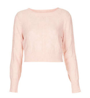Cable Knit Cropped Top TopShop