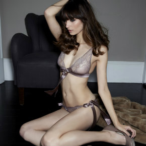 Fleur of England Truffle Boudoir Bra and Brief