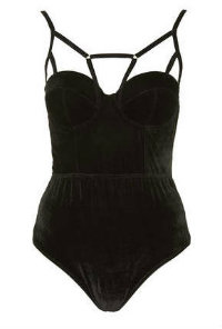 Topshop velvet strappy body