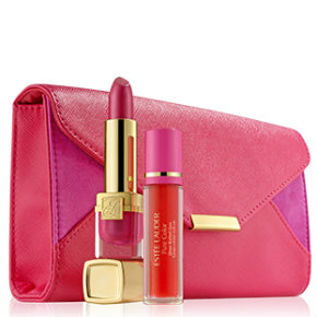 Evelyn Lauder and Elizabeth Hurley Dream Lip Collection