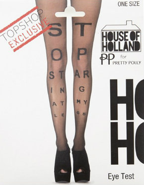 Henry Holland designs tights for Topshop