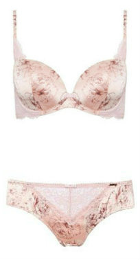 Rosie for Autograph Rose print bra and brief