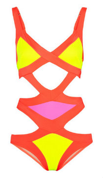 Neon swimwear: Agent Provocateur Mazzy swimsuit