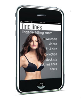 Fine Lines Bra Fitting App
