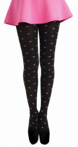 Pamela Mann Heart Patterned Wool Tights