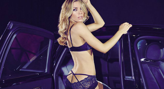 Abbey Clancy Ultimo SS14 lingerie campaign