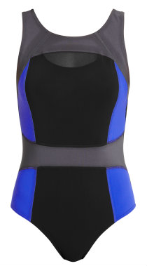 Figleaves Active Jet Active Mesh Trim swimsuit