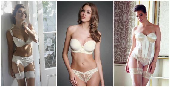 Fuller bust bridal lingerie collections