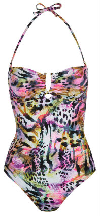 Bodysculpt Mixed Animal Print Swimsuit