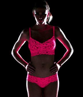 Cosabella Never Say Never glow in the dark lingerie