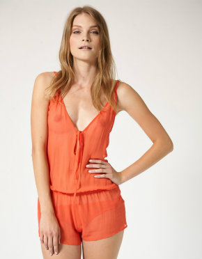 Beautiful Bottoms Flush playsuit in coral