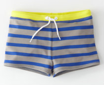 Boden boy's striped swim shorts