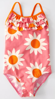 Boden Pink Floral girl's swimsuit