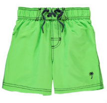 George at Asda green swimming trunks