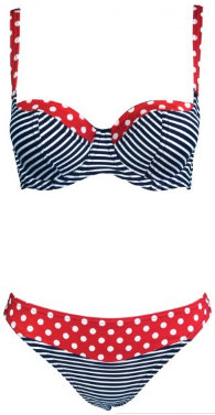 Made in Preston Spots and Stripes Bikini