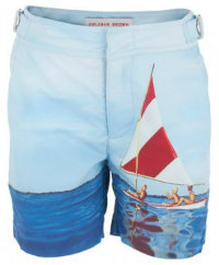 Orlebar Brown sailing boat print swimshorts