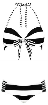 Sumarie striped monochrome bikini