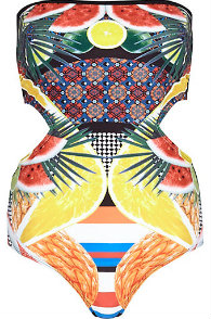 River Island watermelon cut out swimsuit