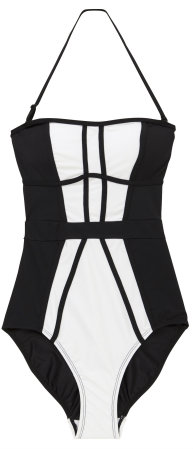 F&F Contrast Panel Swimsuit