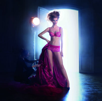 Simone Perele Amour in cranberry AW14