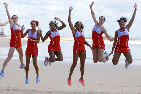 England Netball Commonwealth Games 2014