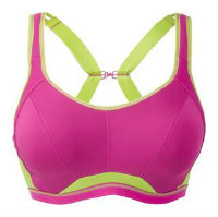 Freya Active crop top sports bra in pink glow