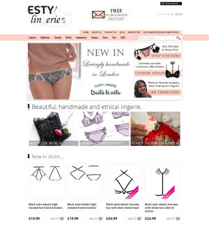 Esty Lingerie website redesign